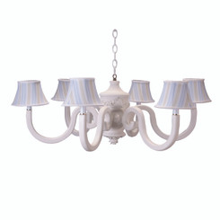 Cottage Blue Bella Chestnut Chandelier