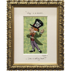 Needlepoint - Mad Hatter, Alice in Wonderland