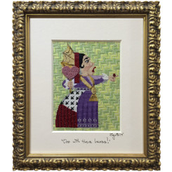 Needlepoint - Queen of Hearts, Alice in Wonderland