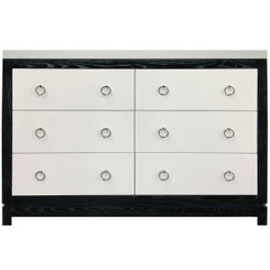 Tempo Dresser 6 Drawer - Black Ash