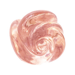 Murano Glass Rose Knobs - Pink