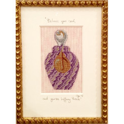 Needlepoint - Lavender Venetian Glass Bottle