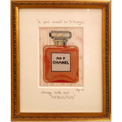 Needlepoint - Chanel No. 5 Perfume Bottle
