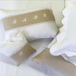 Custom Nursery Pillows in Linen