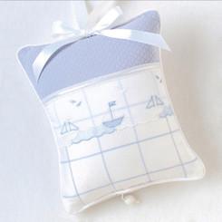 Musical Pillow in Sailboats