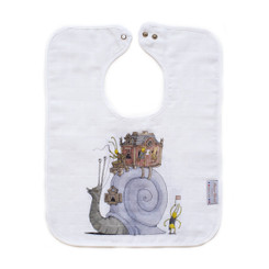 Large Bib - Snail Riding