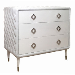 Jewels 4-Drawer Dresser - Tufted w/Diamonds