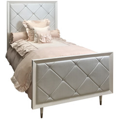 FLOOR SAMPLE Jewels Bed Twin - Quilted with Diamonds