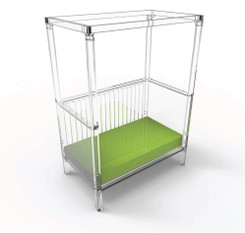 Cloud Acrylic Toddler Bed with Canopy