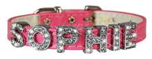 Pink Vinyl Slider Collar.