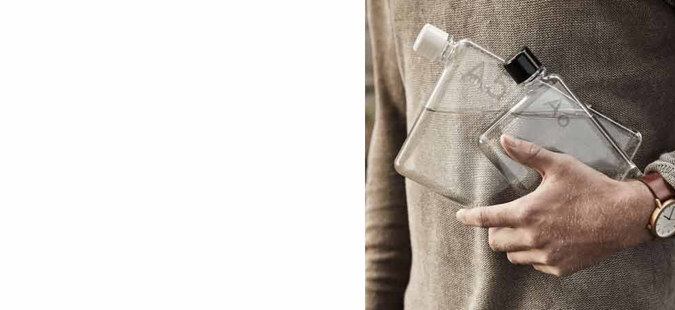 Designer slim line water bottle