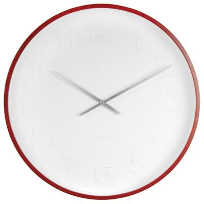 KARLSSON WALL CLOCK MR WHITE Ø 37,5 - white with wooden rim
