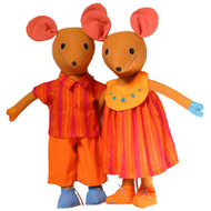 BOY or GIRL MOUSE by BAREFOOT TOYS - XL-Size (55 cm) - Various Colours (only one toy animal is part of the offer)