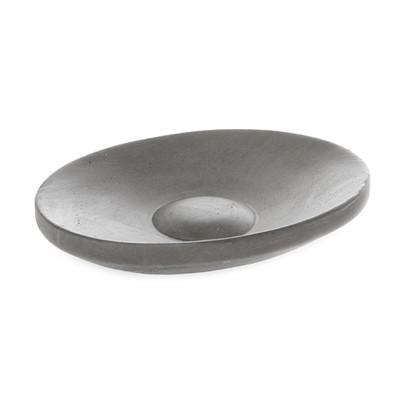 IRIS HANTVERK grey concrete soap dish - oval