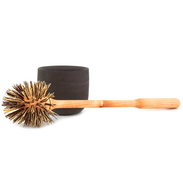IRIS HANTVERK toilet brush with anthracite concrete bowl