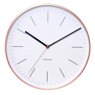 KARLSSON copper case wall clock Minimal ( diameter 27.5cm)