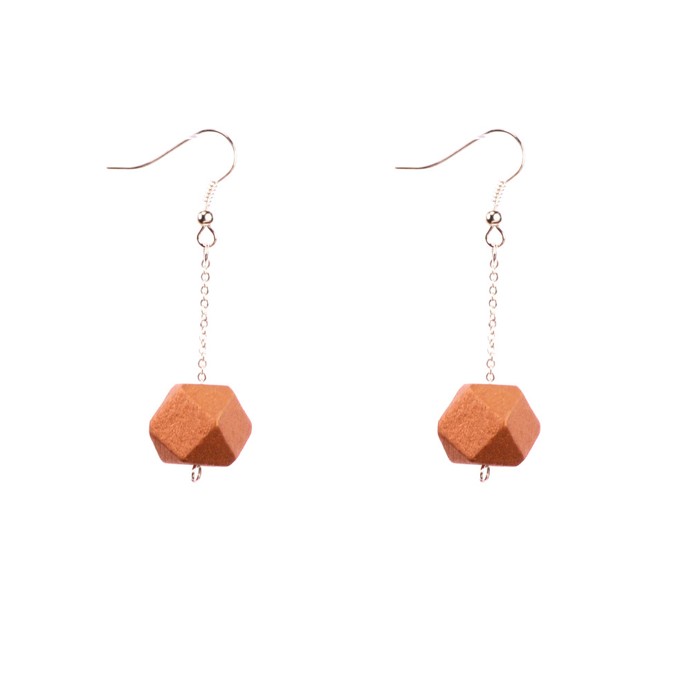 Mon Bijou - Drop Earrings - Copper Geometric Faceted Beads | The Design Gift Shop