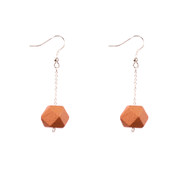Mon Bijou - Drop Earrings - Copper Geometric Faceted Beads