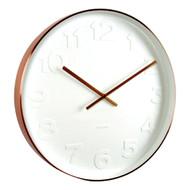 Karlsson Mr White numbers copper rim wall clock - Ø 37.5 x 6 cm | The Design Gift Shop