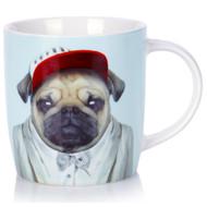 Porcelain Mug Pug