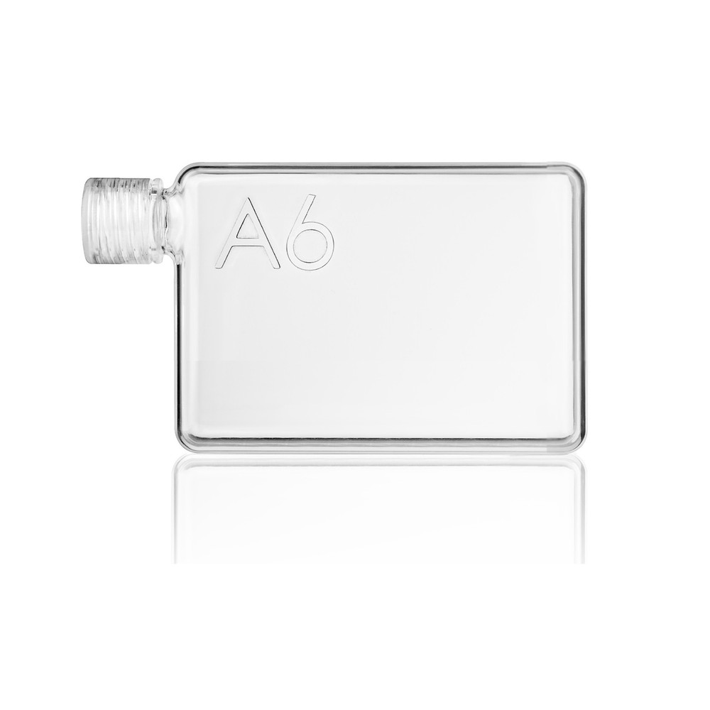 memobottle A6 clear flat shape water bottle | The Design Gift Shop