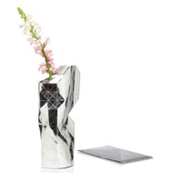 Silver Paper Vase Cover