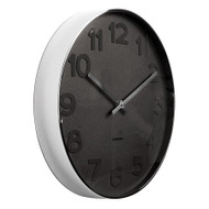 Karlsson Mr Black numbers steel rim wall clock - Ø 37.5 x 6 cm