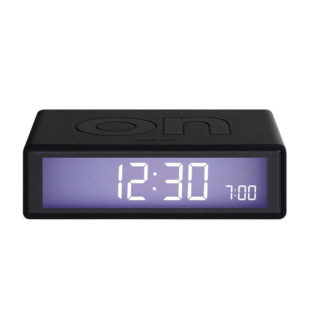 LEXON Flip LCD alarm clock LR130 black   The Design Gift Shop