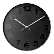 Karlsson Mr Black numbers steel rim wall clock - Ø 51 x 7 cm