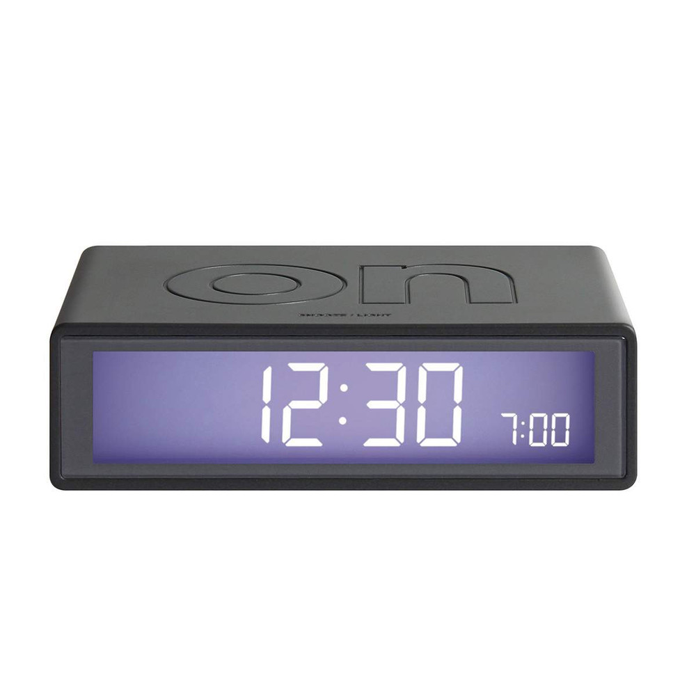 LEXON Flip LCD alarm clock LR130MX gunmetal | The Design Gift Shop