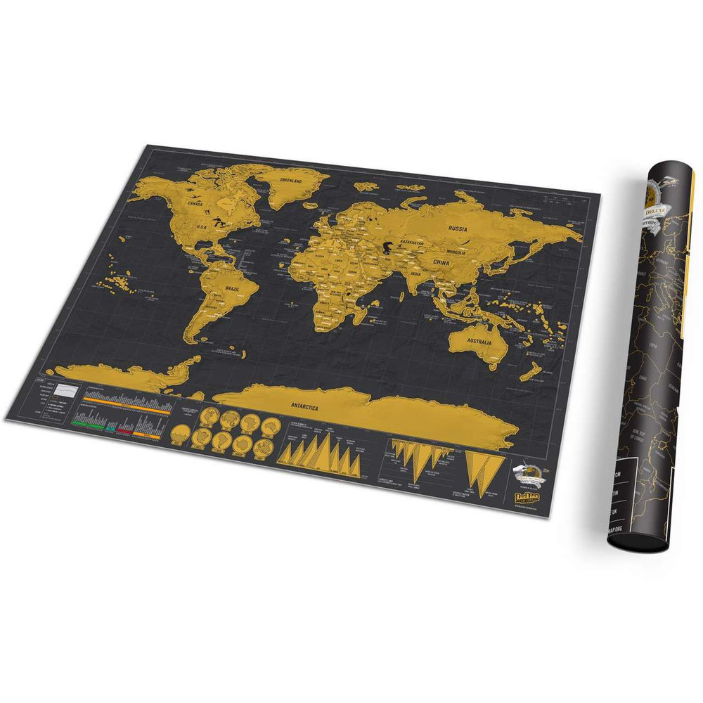 Luckies Scratch World Map - Deluxe Travel Edition | The Design Gift Shop