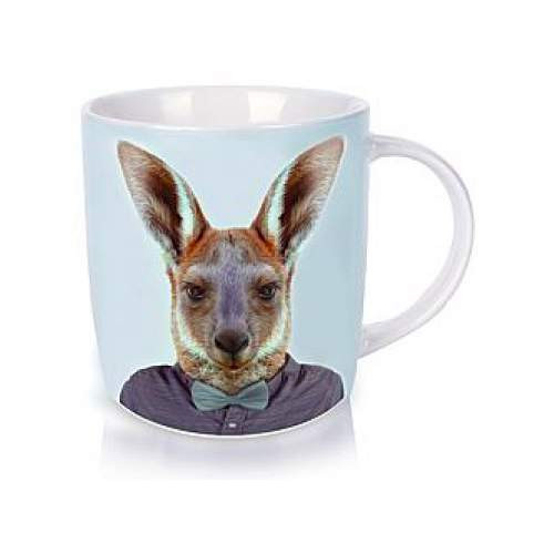 Annabel Trends Zoo Portraits Kangaroo coffee and tea mug | The Design Gift Shop
