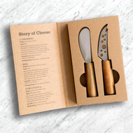 The story of cheese 2 pc cheese knife set
