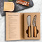 The story of cheese 2 pc cheese knife set | The Design Gift Shop