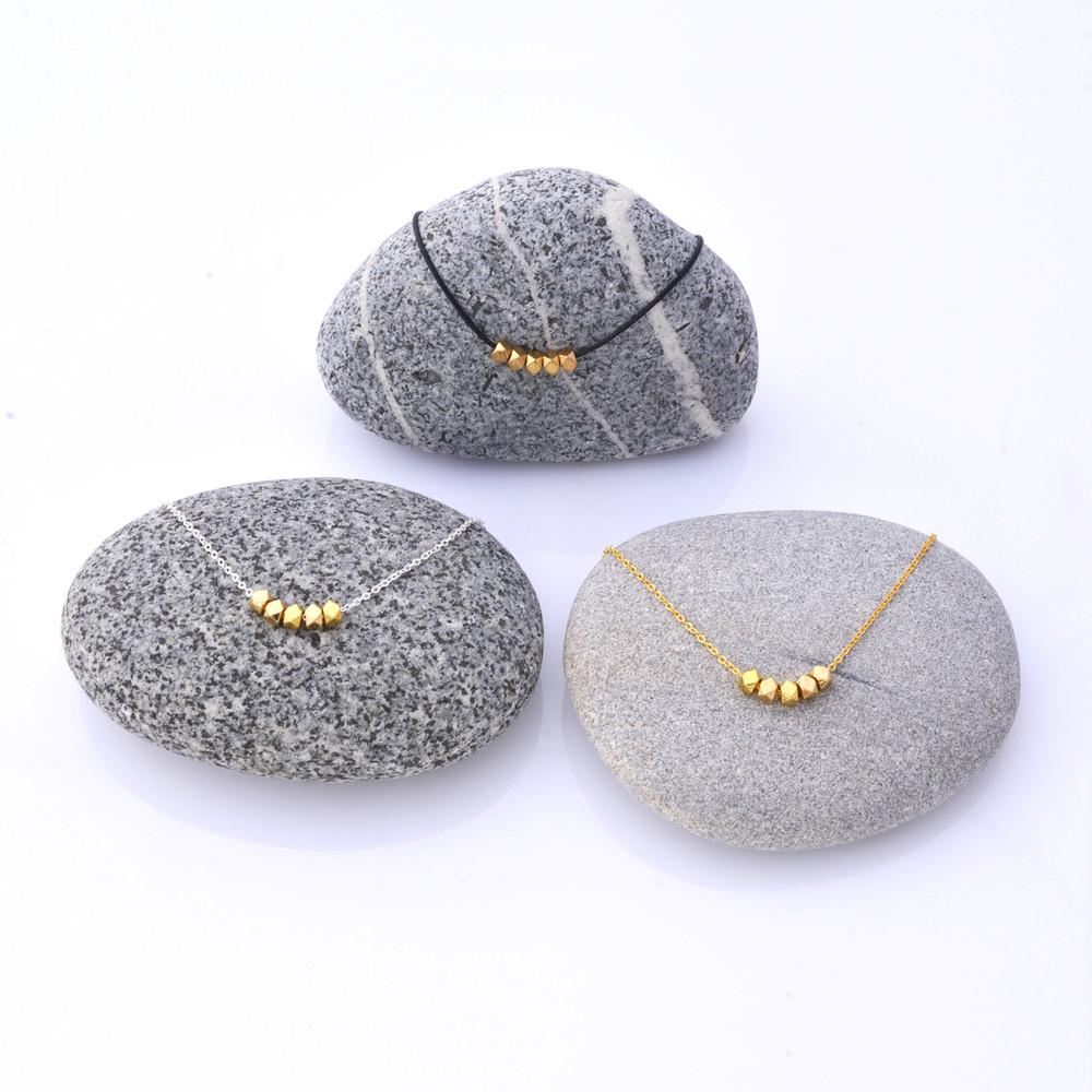 Mon Bijou Minimalist Necklaces Golden Nugget  | The Design Gift Shop