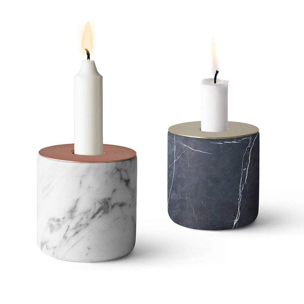 Menu Chunk Of Marble Candle Holder The Design Gift Shop