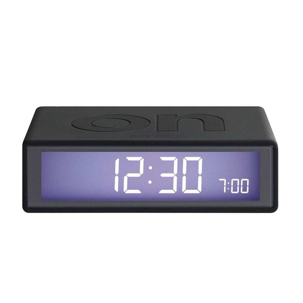 LEXON Flip LCD alarm clock LR130G3 dark grey | The Design Gift Shop