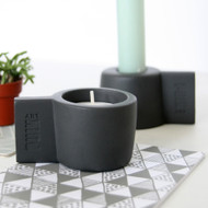 Dark Grey Silicon Candle Holder Set SILLY by PUIKart