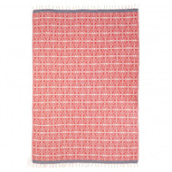 Fouta Towel 'Uhaina Basque Rouge' by Jean-Vier | The Design Gift Shop