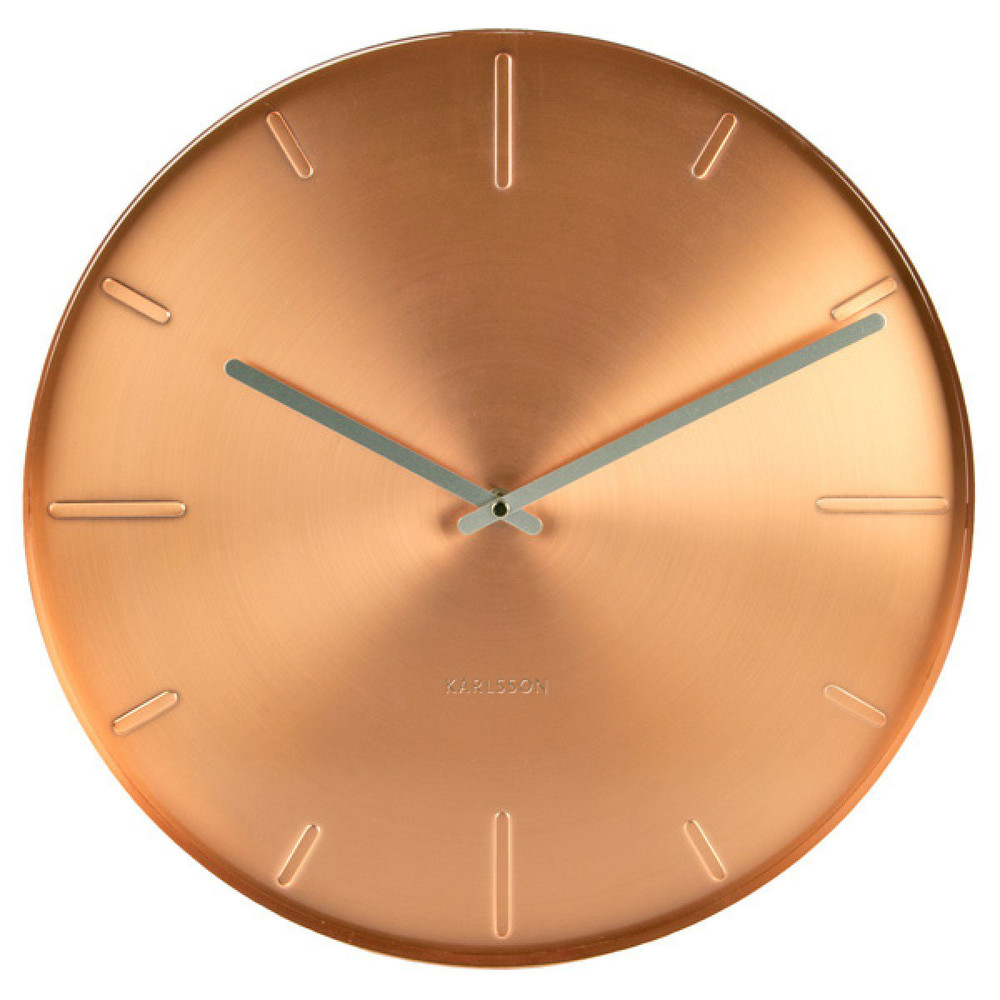 karlsson belt copper wall clock 40cm x 35cm