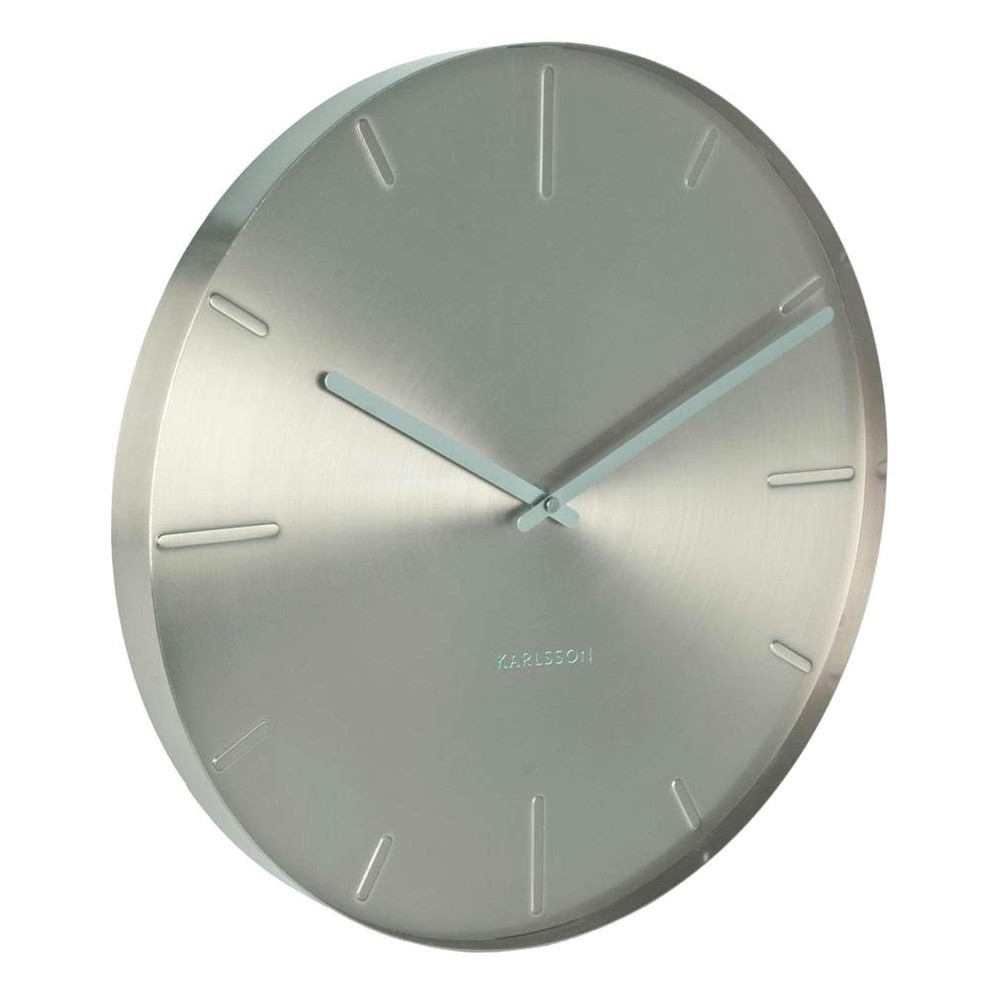 Karlsson Belt Wall Clock Nickel -  40cm x 3.5cm