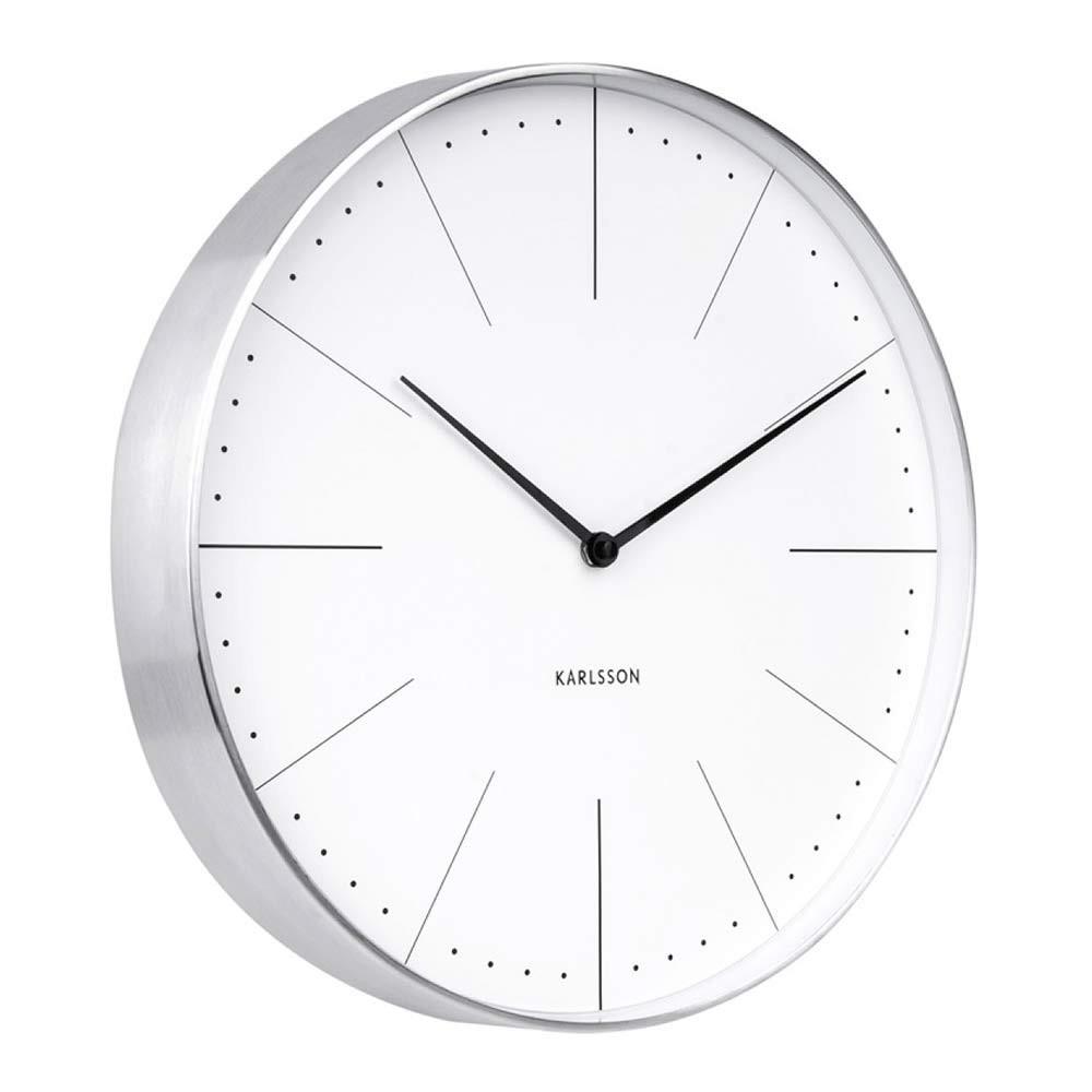 Karlsson Wall Clock Normann White The Design Gift Shop