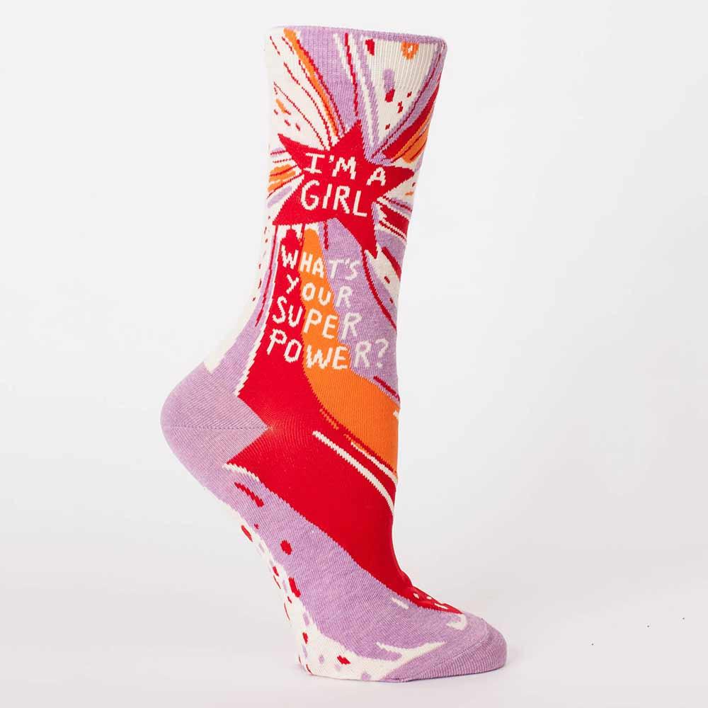 Blue Q Women's Socks 'Superpower'   The Design Gift Shop