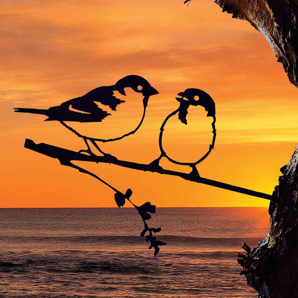 Sparrows - Lovebirds, Metalbird Corten Bird Silhouettes   The Design Gift Shop