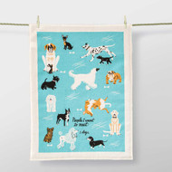 'People I Want To Meet: Dogs' Dish Towel by Blue Q  | The Design Gift Shop