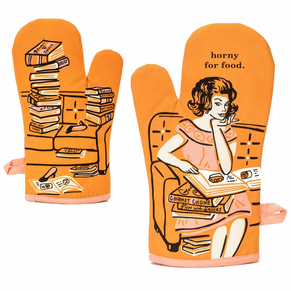 Horny For Food - Oven Mitt by Blue Q  | The Design Gift Shop
