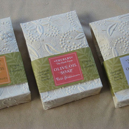 THURLBY natural olive oil soap, choice of three fragrances