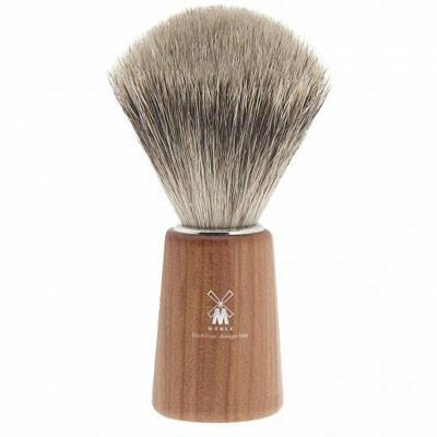 Muhle Shaving Basic H22 shaving brush, fine best badger hair, handle plum wood