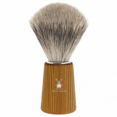 MUHLE BASIC H23 Shaving Brush, Fine Best Badger Hair, Handle PINE WOOD