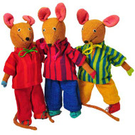 BOY MOUSE by BAREFOOT TOYS - Medium Size (21 cm) - Various Colours (only one toy animal is part of the offer)
